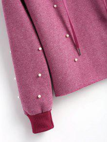 Contrast Drawstring P S Ros Hoodie Faux 250;rpura Pearls 225;cea rBw4Zrdqx