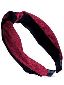 عقدة نمط مزين الشعر الفرقة - نبيذ أحمر