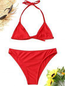 508512368a 2019 Halter Bralette Mesh Bikini Set In RED M