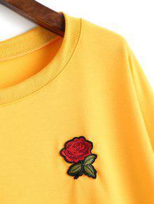 M Adornos Sudadera Amarillo Florales Con w5HTqI