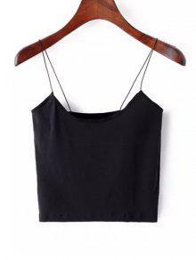 سهل اقتصاص السباغيتي حزام تانك الأعلى - أسود S