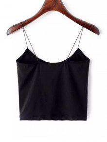 3638aae2026f99 25% OFF   HOT  2019 Plain Cropped Spaghetti Strap Tank Top In BLACK ...