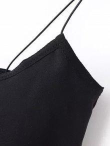 De Mangas Sin Negro Camiseta Sin Espagueti Tira M Costura Con wIPxnqf5