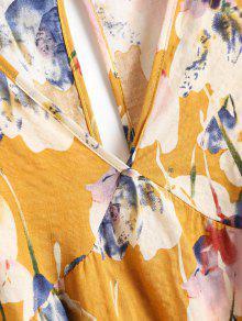 Jengibre Xl Floral Con Estampado Descubiertos Hombros Blusa De AaSqBB