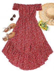 Tiny Floral High Low Dress