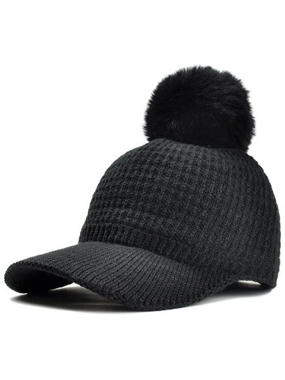6b977ca79e5 30% OFF  2019 Simple Crochet Knitted Pom Pom Snapback Hat In BLACK ...