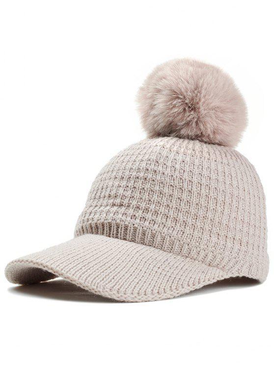 8274876871c 2019 Simple Crochet Knitted Pom Pom Snapback Hat In BEIGE