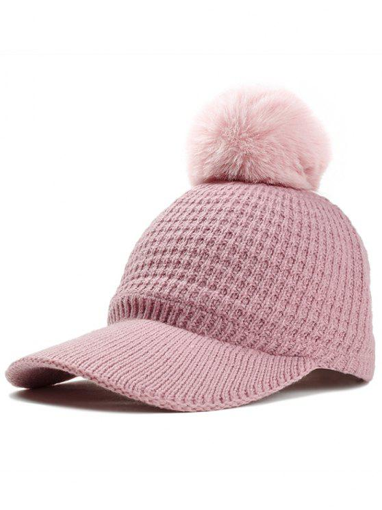 c99e130c44b 24% OFF  2019 Simple Crochet Knitted Pom Pom Snapback Hat In PINK ...