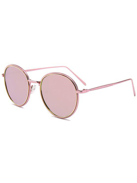 outfit Metal Full Frame Decorated Driver Sunglasses - PINK FRAME+PINK LENS