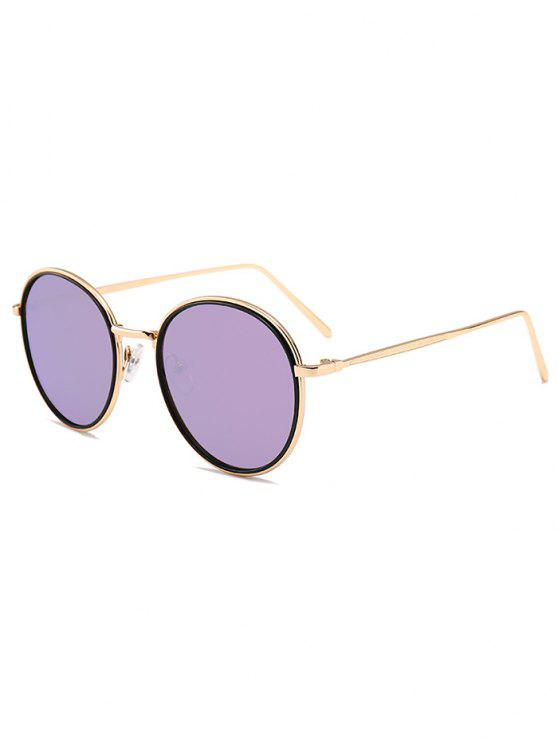 3d5d27277a Metal Full Frame Decorated Driver Sunglasses - Gold Frame + Purple Lens
