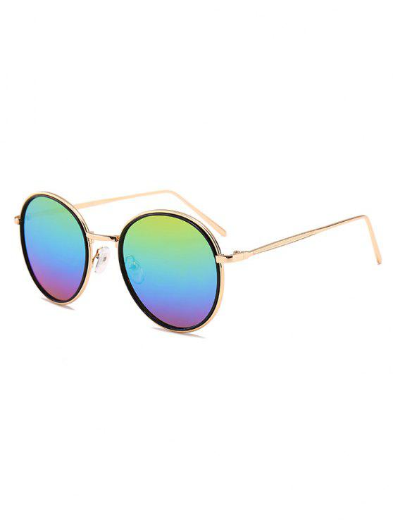 latest Metal Full Frame Decorated Driver Sunglasses - COLORFUL