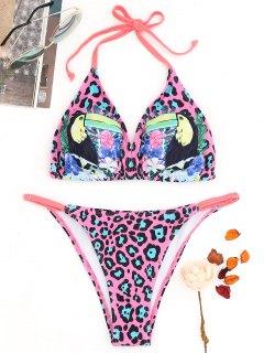Juego De Bikini Con Estampado De Leopardo Y Estampado De Leopardo - S