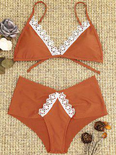 Laced Padded Bikini Set - Jacinth S