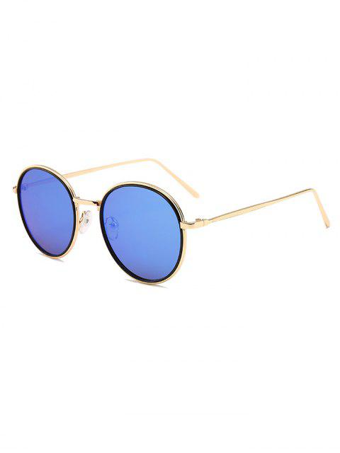 shop Metal Full Frame Decorated Driver Sunglasses - BLUE  Mobile