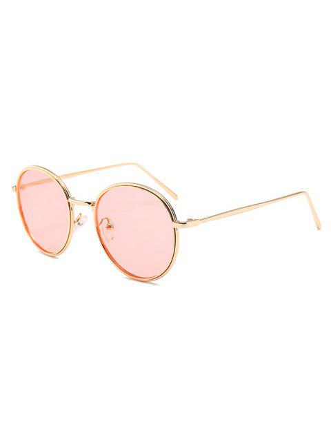 trendy Metal Full Frame Decorated Driver Sunglasses - LIGHT PINK  Mobile