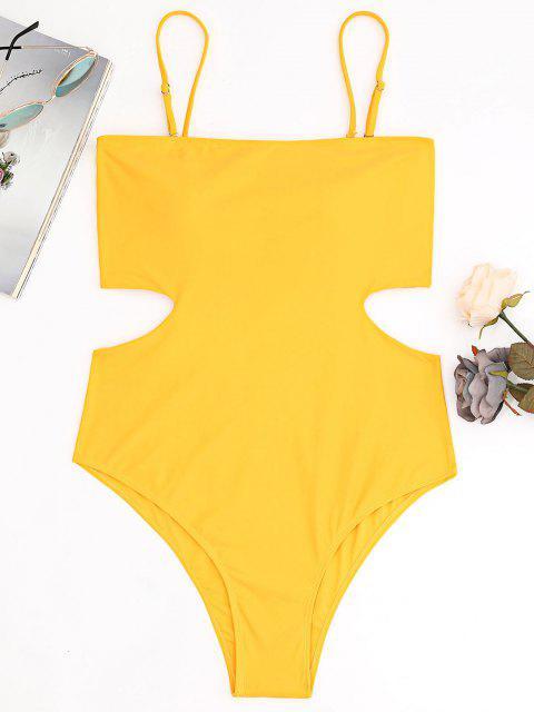 women's Plus Size Cut Out Bandeau High Leg Swimsuit - GINGER 2XL Mobile