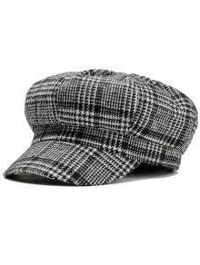هوندتوث نمط نقش قبعة بيريه - أسود