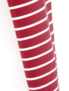 Cropped S Top Twist Rojo Stripes gUx4qnZX