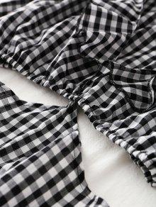 Comprobado Y Pierna A M Media Vestido Larga Pliegues Con Manga xP84xwqa