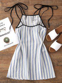 bfefcecb73c9cb 29% OFF  2019 Stripes Mini Slip Dress In LIGHT BLUE
