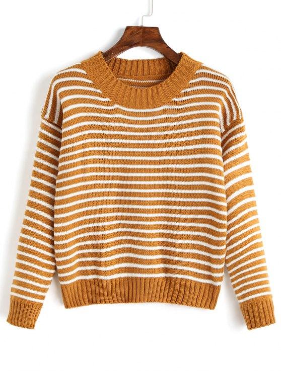 f9477cb89e7 37% OFF  2019 Crew Neck Two Tone Striped Sweater In STRIPE