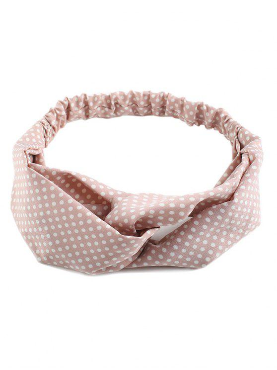 Polka Dot Cute Elastic Hair Band - Rosa
