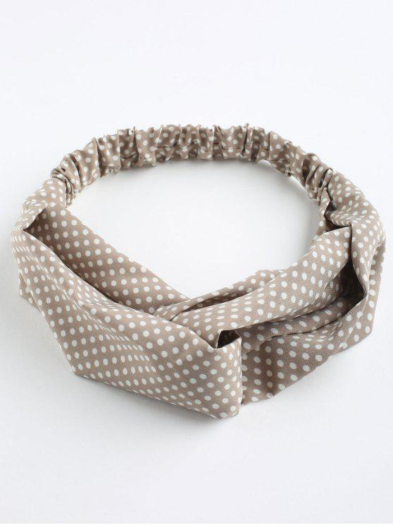 Polka Dot Cute Elastic Hair Band - Caqui