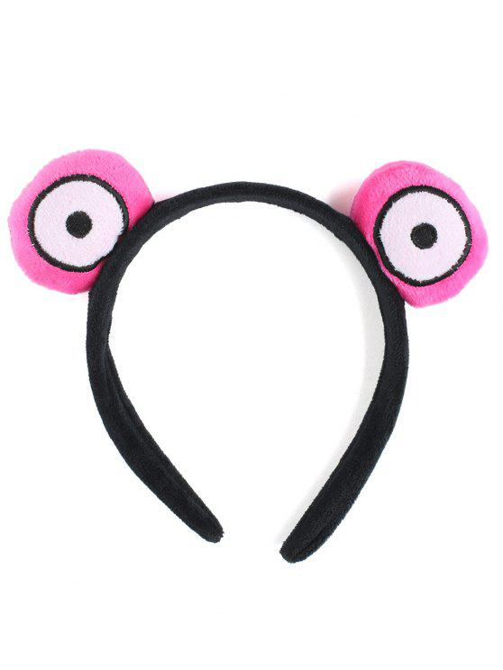 outfit Fuzzy Cute Round Eyes Hairband - PINK