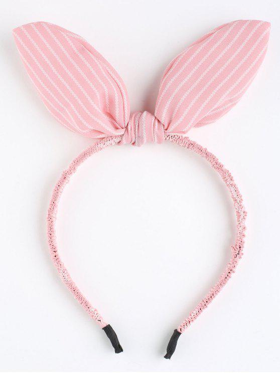 fancy Cute Rabbit Ears Striped Hairband - PINK