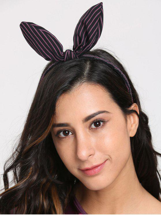 Cute Rabbit Ears Striped Hairband - Roxo