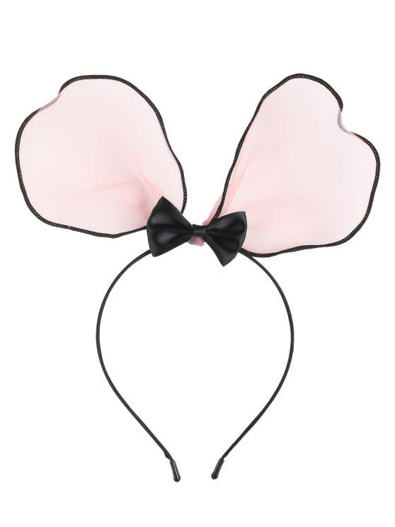 affordable Lace Bows Rabbit Ears Hairband - PINK