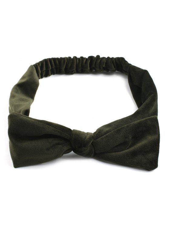lady Vintage Bows Velvet Elastic Hair Band - BLACKISH GREEN