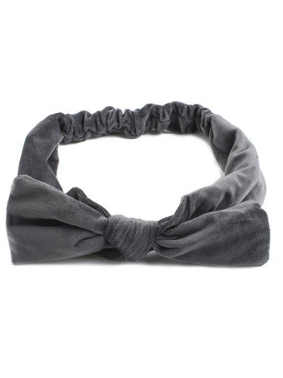 Vintage Bows Velvet Elastic Hair Band - Gris