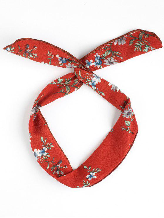 hot Vintage Flower Print Headband - JACINTH