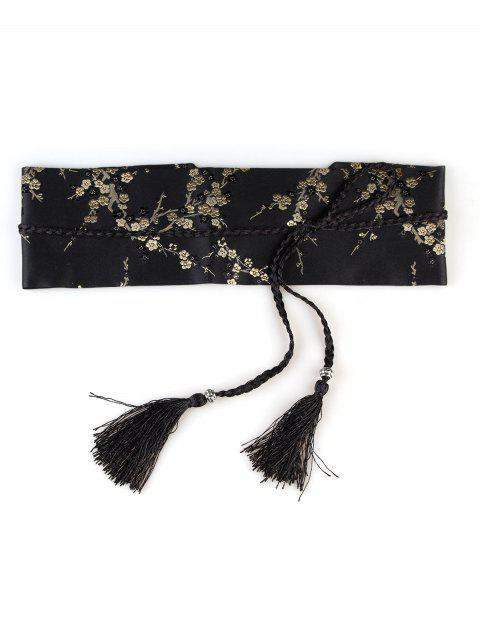 Broderie florale Ceinture corset à ornements - Jaune et Noir  Mobile