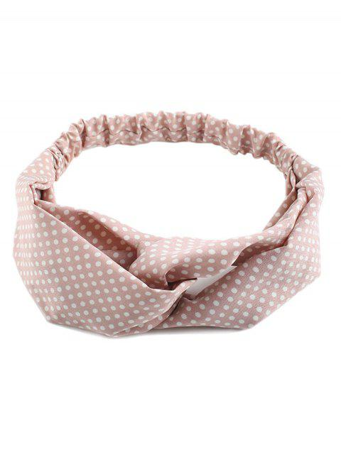 Polka Dot Cute Elastic Hair Band - Rosa  Mobile