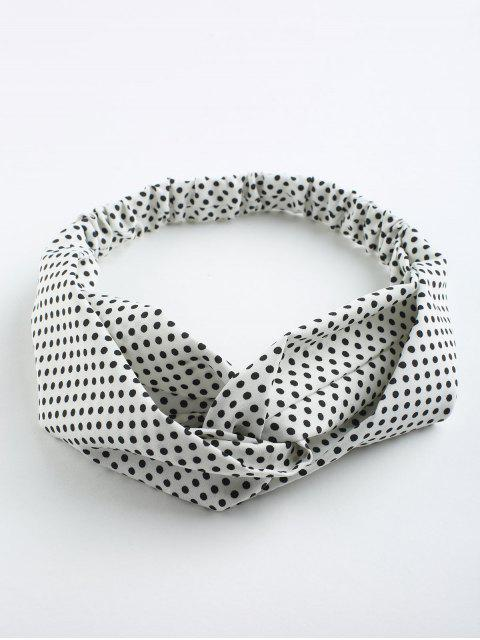 Polka Dot Cute Elastic Hair Band - Blanco  Mobile
