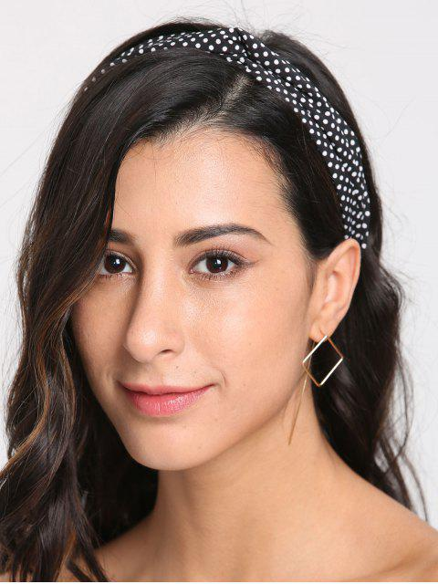 Polka Dot Cute Elastic Hair Band - Negro  Mobile