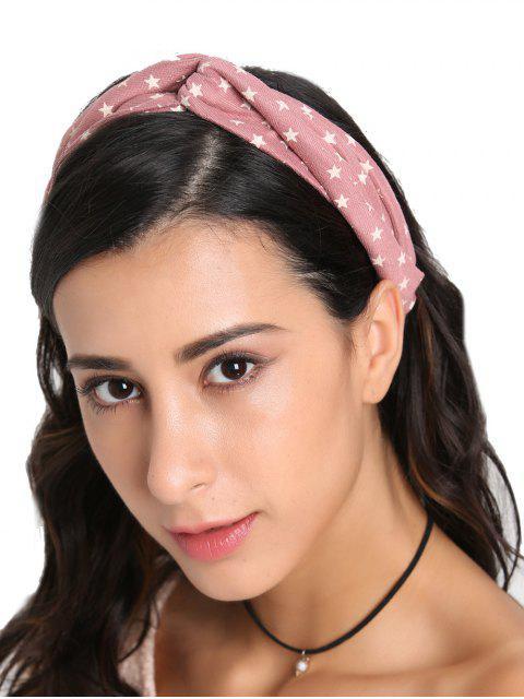 online Vintage Star Printed Elastic Hair Band - PINK  Mobile