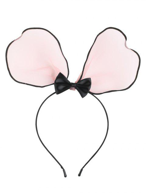 affordable Lace Bows Rabbit Ears Hairband - PINK  Mobile