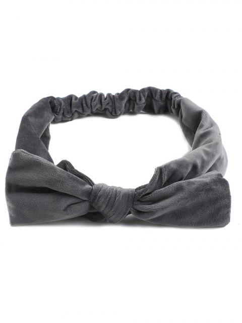 Vintage Bows Velvet Elastic Hair Band - Gris  Mobile