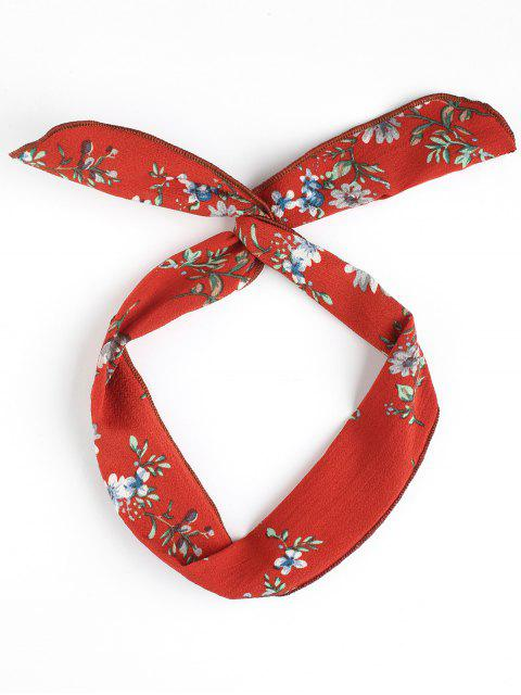 hot Vintage Flower Print Headband - JACINTH  Mobile