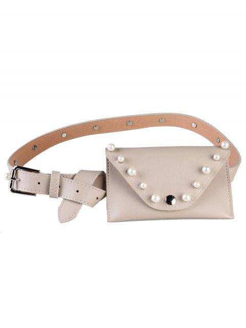 outfits Pearl Funny Bag Embellished Faux Leather Skinny Belt -   Mobile
