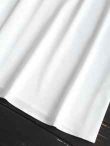 o Cari Trapecio Blanco Cuello Volantes S De Con Vestido PYqAFF