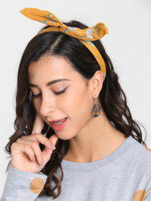 طوق رأس بطبعة أزهار - الأصفر