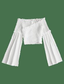 Top Blanco S Sin Hombros Descubiertos Con Costuras ZZHqTW