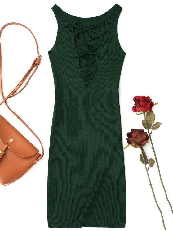 Vestido de noiva sem mangas - Verde Escuro Tamanho único
