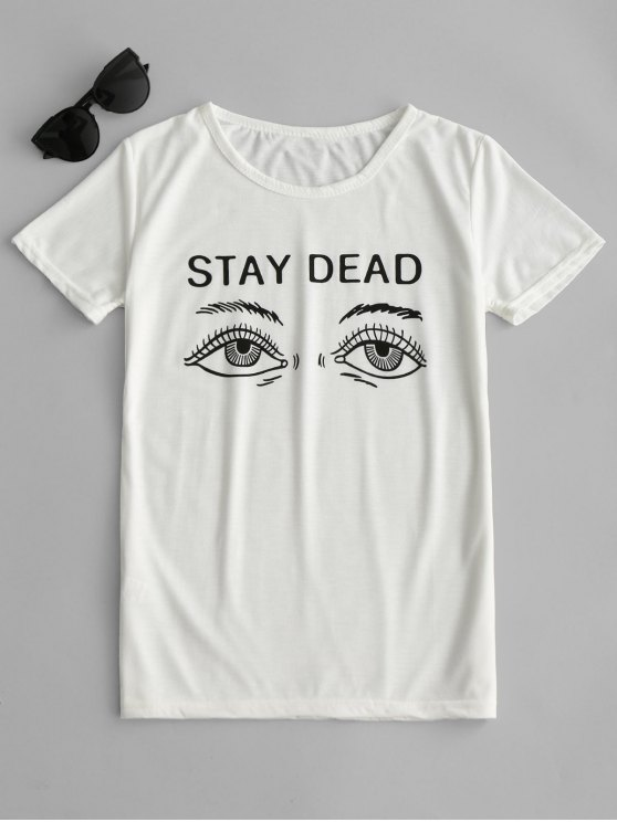 outfits Graphic Short Sleeve T-shirt - WHITE M