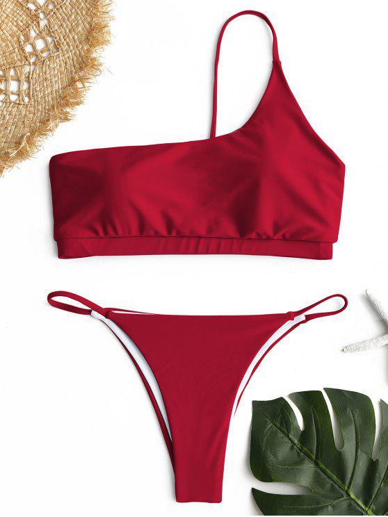 Bikini monospalla - Rosso S