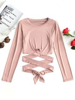 Croissierte Krawatte Criss Cross Top - Pink S